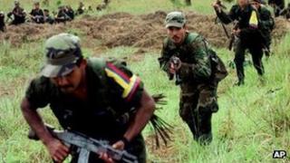 Farc rebels. File photo