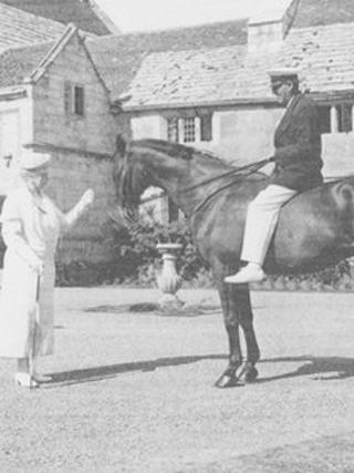 Warrior and Jack Seely with Queen Mary