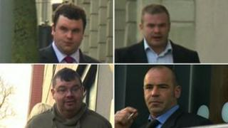 Guilty men at court