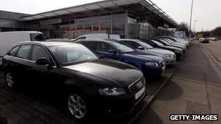 German car dealership