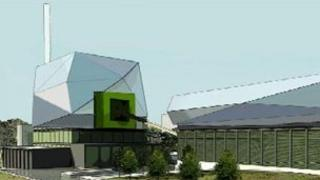Artist impression of proposed Thetford Renewable Energy Plant