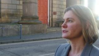 Transport Secretary Justine Greening at the former Curzon Street railway station
