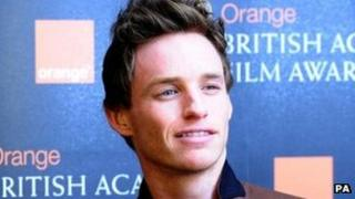 Eddie Redmayne, nominee for the Orange Wednesday Rising Star BAFTA Award in London