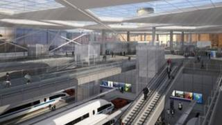 Artist's impression of the redeveloped Curzon Street station