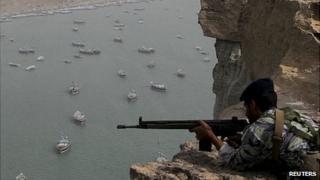 Iranian forces on exercise near the Strait of Hormuz. 30 Dec 2012