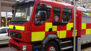 Seven fire appliances attended the scene