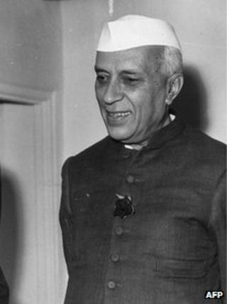 Nehru in his trademark jacket