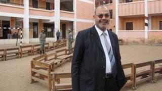 MP Saad al-Husseiny at a polling station in Mahalla el-Kubra