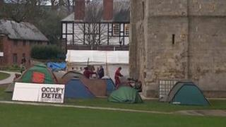 Occupy Exeter on Cathedral Green