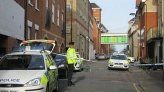 Police on Higher Baxter Street, Bury St Edmunds