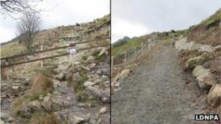The path before and after repair