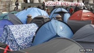 Occupy London protest camp outside St Paul's Cathedral