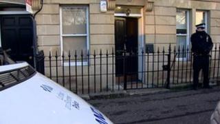 police at the Dickson street scene