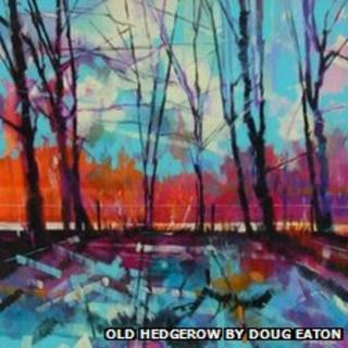 Old Hedgerow painting by Doug Eaton, an exhibitor at Acre of Art gallery