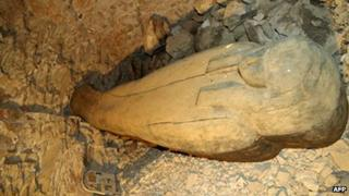 Handout picture from Egypt's Supreme Council of Antiquities showing the grave