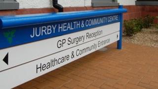 Jurby health centre sign