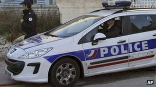 French police car - archive pic