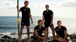 Hugo and Ross Turner, Adam Wolley and Greg Symondson of the Atlantic4 team
