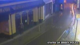 CCTV footage of a man the police would like to speak to