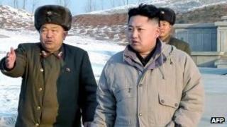 New leader Kim Jong-un visits construction site on 12 January 2012 (image via KCNA)