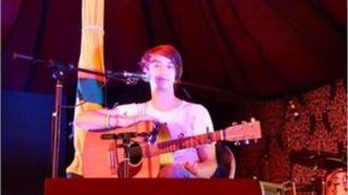 Tom Sutcliffe playing at the Secret Garden Party, on the BBC Introducing Stage