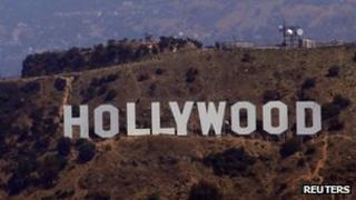 Hollywood sign (file photo)