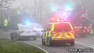 Scene of the collision in Long Furlong