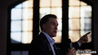 Mitt Romney speaks in Rock Hill, South Carolina at a campaign event 18 January 2012