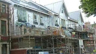 Social housing being built in Cardiff