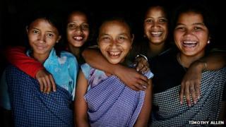 Khasi women smiling