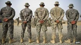 US soldiers of the 502nd Infantry regiment in Kandahar City, 5 December 2010