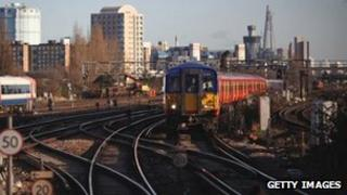 Trains at Clapham Junction Station