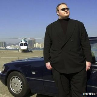 German internet millionaire Kim Schmitz is seen in Hong Kong in this 1999 handout file photo