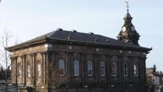 Former town hall in Burslem