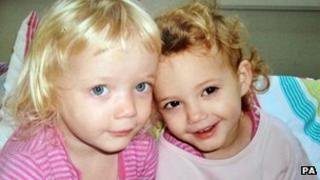 Twins Holly and Ella Smith, 4