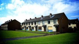 Coleraine housing estate in Ballysally