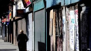 Empty shops in Hull