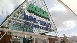 The facade of an Asda store.