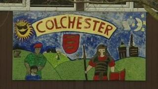 Mural at the Montgomery Junior School in Colchester