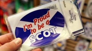 'I'm proud to be a Scot' sticker
