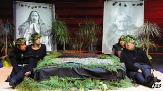 Maori heads at Quai Branly museum in Paris