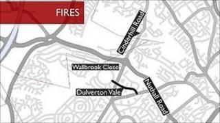 Map of fires area