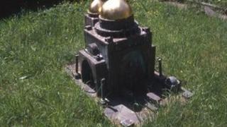 A copper temple