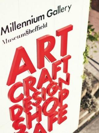 Millennium Gallery sign
