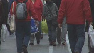 Islanders walking in King Street