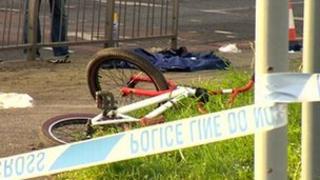 Bike and police tape
