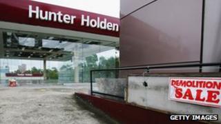 Showroom of Holden Motors