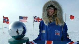 Bryony Balen at south pole