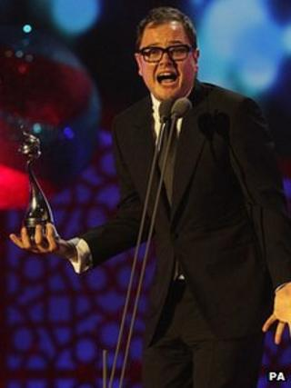Alan Carr at the National TV Awards