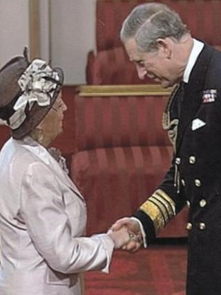 Ann Oliver MBE and HRH The Prince of Wales